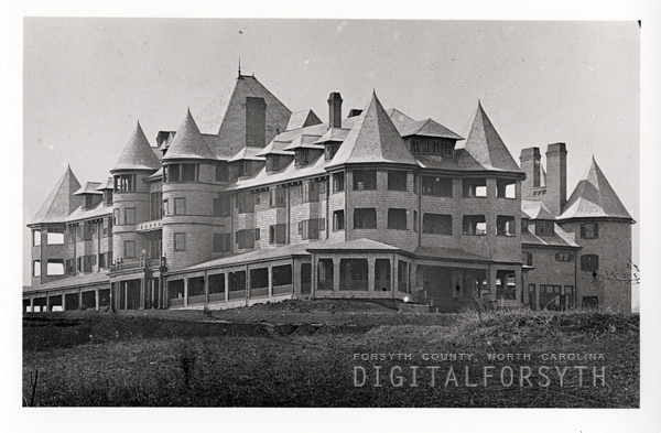 The Zinzendorf Hotel. Image from the Forsyth County Public Library.
