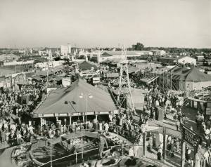 A view of the midway at the State Fair, date unknown. Image from the State Archives.