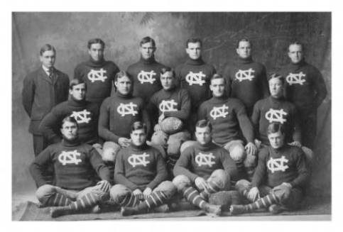 A UNC football team, circa 1900-1909. Image from the North Carolina Collection at UNC.