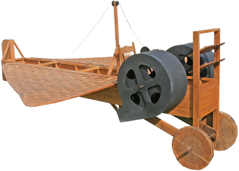 A reproduction of the Gatling Aeroplane. Image courtesy of the Murfreesboro Historical Association, Inc.