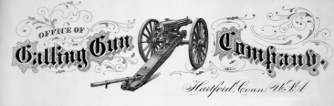 A Gatling gun as shown on company letterhead, circa 1875