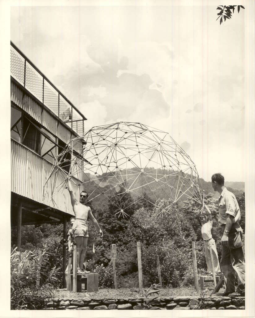 A geodesic dome at Black Mountain College.