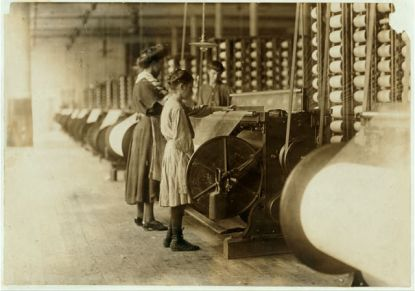 Girls working at Loray Mill. Image from the Library of Congress