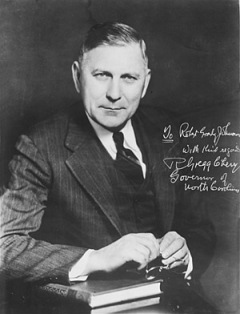 Gov. R. Gregg Cherry, who appointed Abernethy poet laureate. Photo from NCpedia.