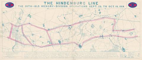 The actions of the Old Hickory Division around the Hidenburg Line in September and October 1918. Image from the State Archives.