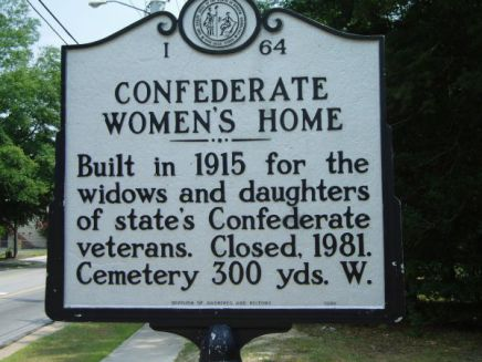 Highway marker in Cumberland County honoring the Confederate Women's Home.