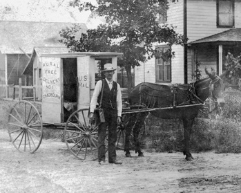 A Rural Free Delivery mail carrier at Chadbourn in the early 1900s. Photo courtesy of the North Carolina Collection, UNC-Chapel Hill Library.