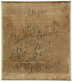 The letter that Isaac Avery wrote to his father, now held by the State Archives.