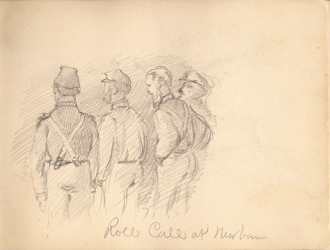 One of Champney's sketches. Image from the Outer Banks History Center.