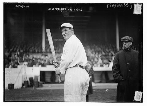 Jim Thorpe, circa 1913. Photo courtesy of the Library of Congress.