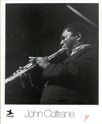 A circa 1951-55 promotional poster for Coltrane. Image from the University of Missouri-Kansas City Libraries.