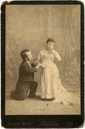 John and Mariah Nail Mertz, circa 1883. Image from the Davie County Public Library.