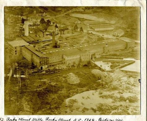 Rocky Mount Mills in 1924. Image from the N.C. Museum of History.