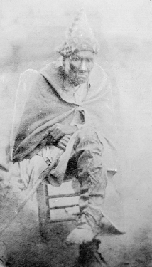 A purported photograph of Chief Junaluska from the State Archives