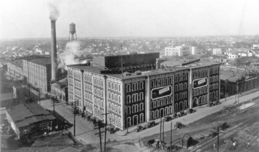 W. T. Blackwell & Company Factory, now part of the American Tobacco Campus. Image from the Durham County Library.