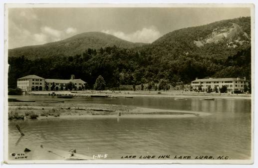 The Lake Lure Inn, circa 1932. Image from UNC-Chapel Hill Libraries.