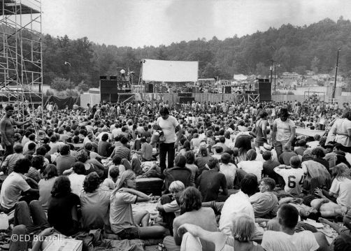 The crowd looking toward the stage at the Love Valley Music Festival. Image courtesy of Ed Buzzell Photography.