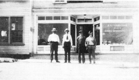 An early image of Luck's Beans. Image from the town of Seagrove.