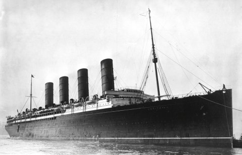 The RMS Lusitania, circa 1907-1913. Image courtesy of the Library of Congress.