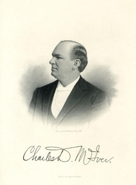 A circa 1890-1910 engraving of McIver. Image from the N.C. Museum of History.
