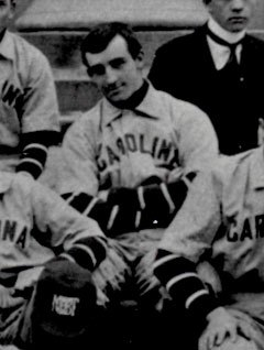 """""""Moonlight"""" Graham, when he was on 1900 UNC baseball team. Image from the North Carolina Collection at UNC-Chapel Hill."""