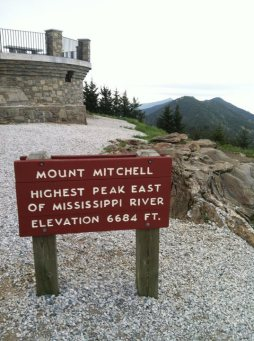Mount Mitchell sign
