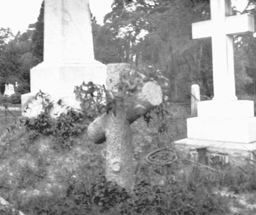 Martin's grave at Oakdale Cemetery in Wilmington. Image from the New Hanover County Public Library.