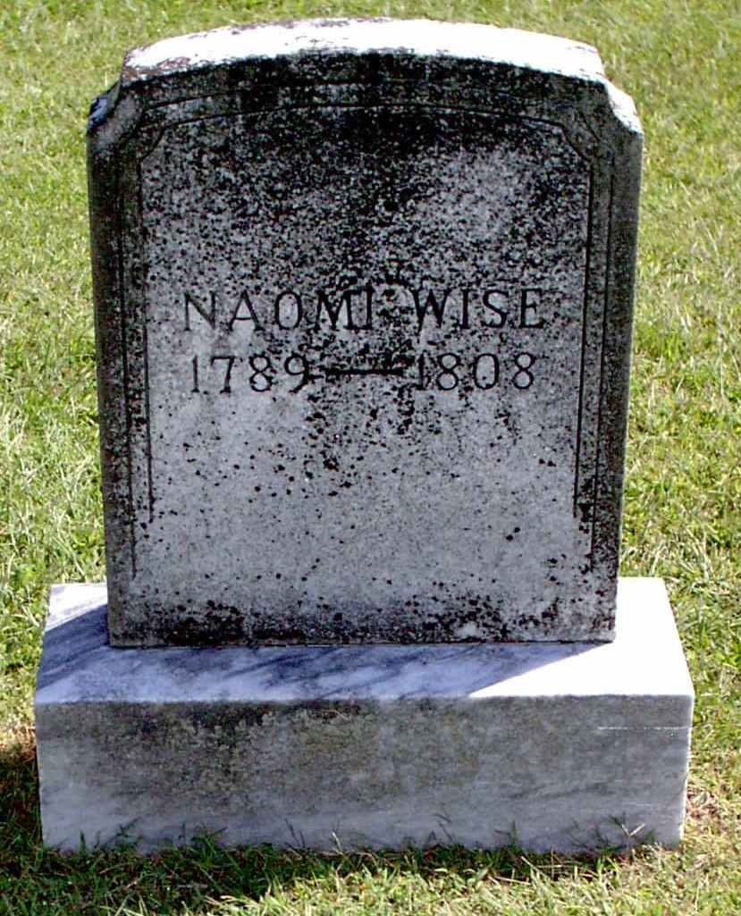 Tombstone of Naomi Wise