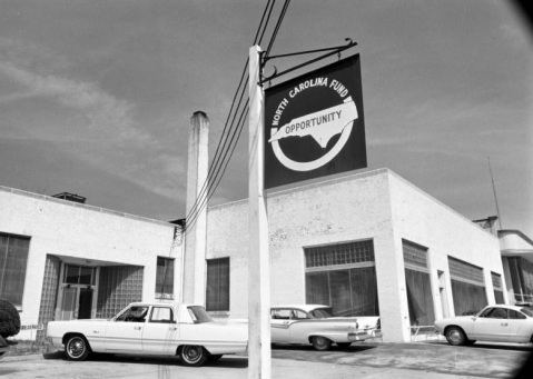 The North Carolina Fund headquarters in Durham, circa 1968. Image from UNC-Chapel Hill Libraries.
