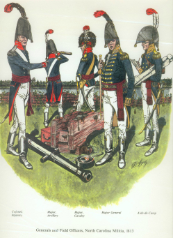 Officers of the North Carolina militia during the War of 1812