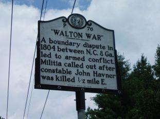 Walton War Historical Marker