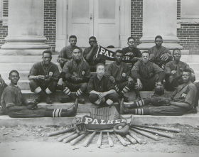 The Palmer Institute baseball team in 1920. Image from the Charlotte Hawkins Brown Museum