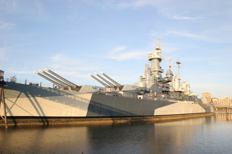 Battleship NORTH CAROLINA moored in Wilmington
