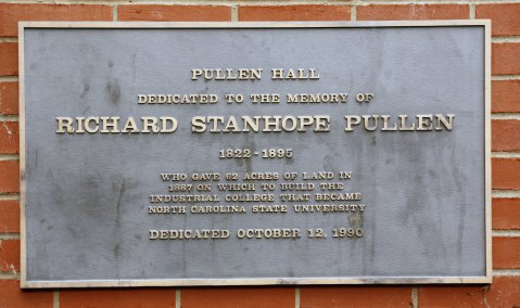 c07f4f19d5ea9 A plaque honoring Pullen s contributions on Pullen Hall on N.C. State s  Campus. Image from NCSU
