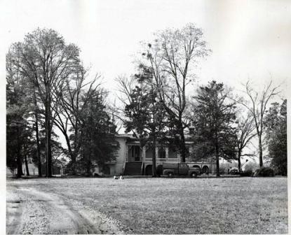 Verona, Ransom's home, in 1954. Image from the N.C. Museum of History