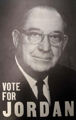 "A 1957 ""Vote for Jordan"" poster from the N.C. Museum of History's collection"