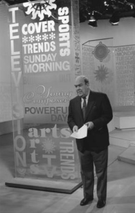 Kuralt hosts CBS New Sunday Morning in 1991. Image from the North Carolina Collection at UNC-Chapel Hill.