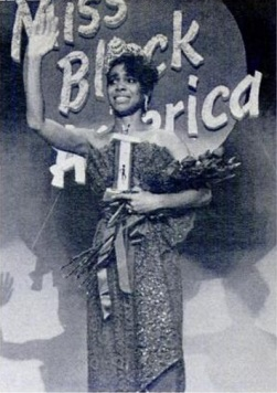 A tearful Rachel Oliver right after winning the title of Miss Black America in 1986.