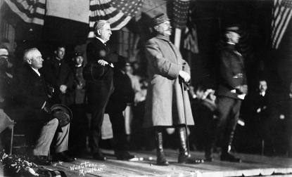 Foch speaking in Union County. Image from the N.C. Museum of History