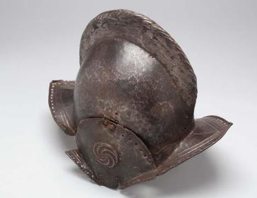 Helmets like these were worn by Spanish explorers in the 1500s. This particular one can be seen at the N.C. Museum of History.