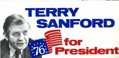 A Sanford for President bumper sticker held by the N.C. Museum of History