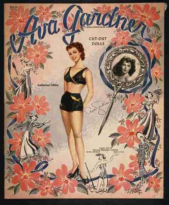 A cut-out book featuring Ava Gardner, now in the collection of the N.C. Museum of History