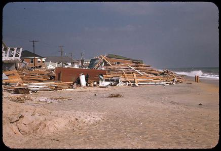 A Transparency Slide In The Collection Of N C Museum History Showing Damage From Hurricane