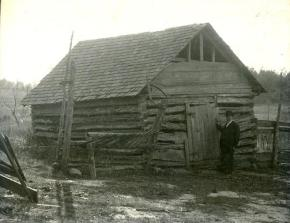 A photo of Duke's first tobacco factory taken in 1900 from the N.C. Museum of History