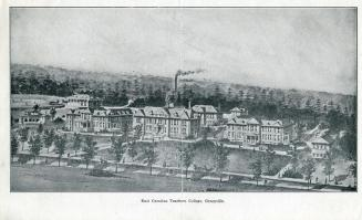 A 1920 print of East Carolina Teachers College. Image from the N.C. Museum of History