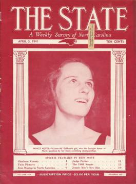 The cover of a 1941 issue of The State magazine, now held by the N.C. Museum of History