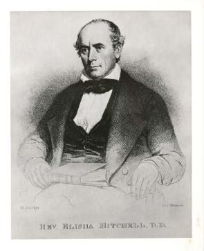An engraving of Elisa Mitchell in the N.C. Museum of History's collection