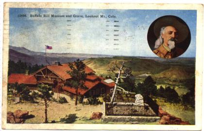 A postcard for the Buffalo Bill Museum in Colorado held by the N.C. Museum of History