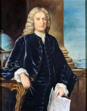 A portrait of Arthur Dobbs from the N.C. Museum of History