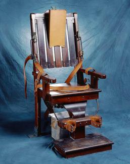 North Carolina's execution chair, used between 1893 and 1961. It is now part of the collection at the N.C. Museum of History